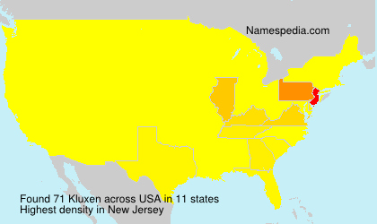 Surname Kluxen in USA