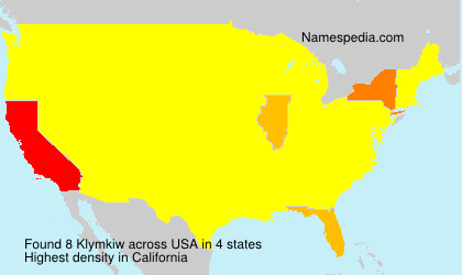 Surname Klymkiw in USA
