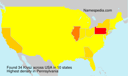 Surname Klysz in USA