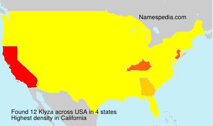 Familiennamen Klyza - USA