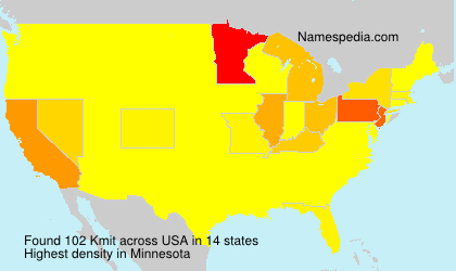 Surname Kmit in USA