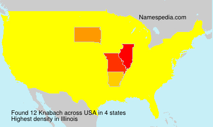 Surname Knabach in USA