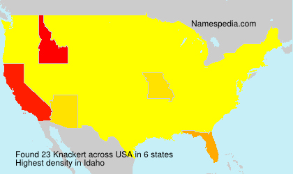 Surname Knackert in USA