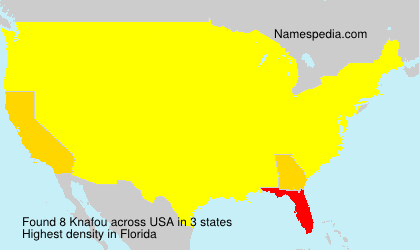 Surname Knafou in USA
