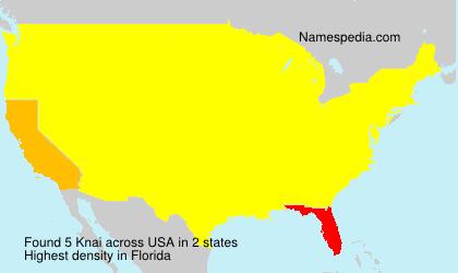 Familiennamen Knai - USA