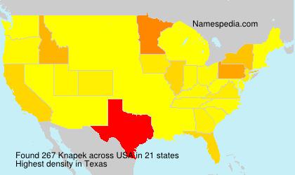 Surname Knapek in USA