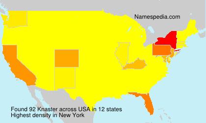 Surname Knaster in USA