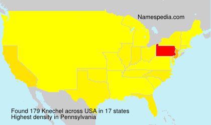 Surname Knechel in USA