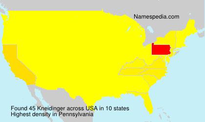 Familiennamen Kneidinger - USA