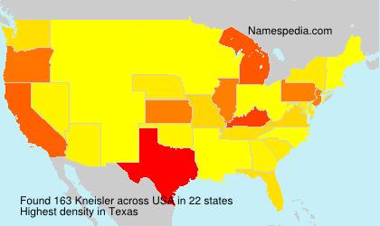 Surname Kneisler in USA