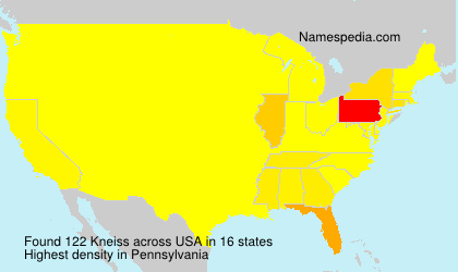 Surname Kneiss in USA