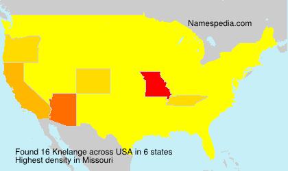Surname Knelange in USA