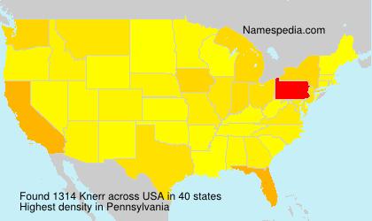 Familiennamen Knerr - USA