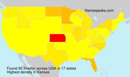 Familiennamen Knetter - USA
