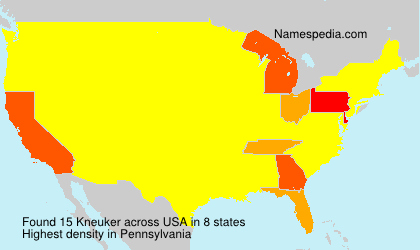 Surname Kneuker in USA