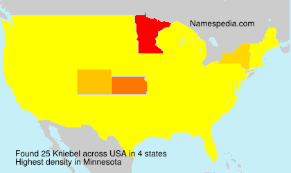 Surname Kniebel in USA