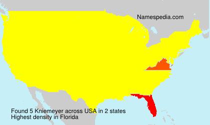 Surname Kniemeyer in USA