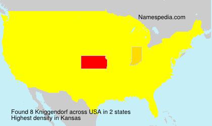 Surname Kniggendorf in USA