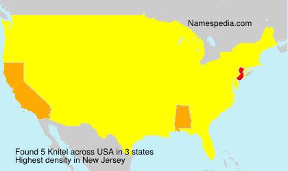 Surname Knitel in USA