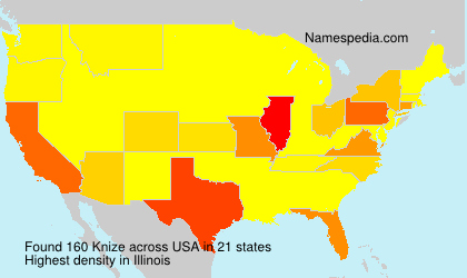 Surname Knize in USA