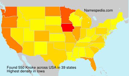Familiennamen Knoke - USA