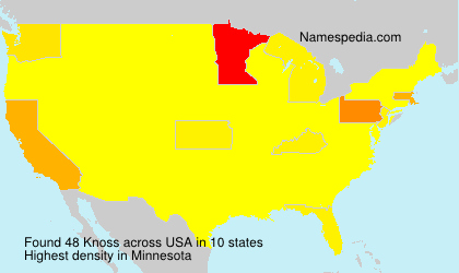Surname Knoss in USA
