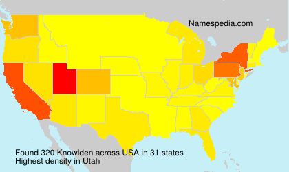 Surname Knowlden in USA