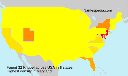 Surname Knubel in USA