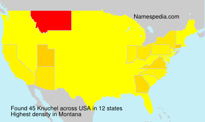 Surname Knuchel in USA