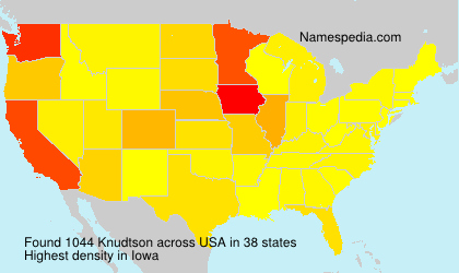 Surname Knudtson in USA