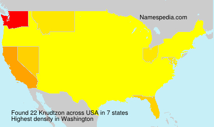Surname Knudtzon in USA
