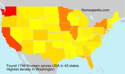 Surname Knutsen in USA