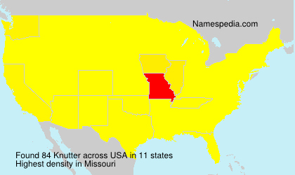 Surname Knutter in USA