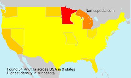 Surname Knuttila in USA
