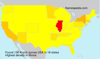 Surname Knych in USA