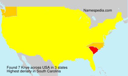 Surname Knye in USA