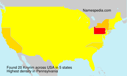Surname Knyrim in USA