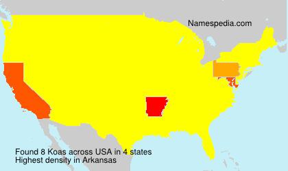 Surname Koas in USA