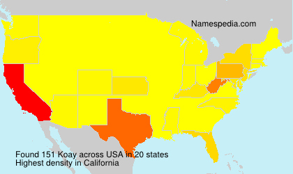 Familiennamen Koay - USA