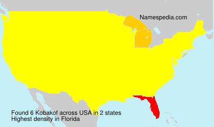 Familiennamen Kobakof - USA