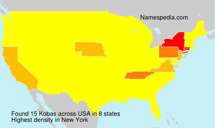 Surname Kobas in USA