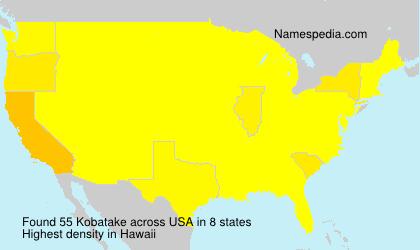 Surname Kobatake in USA