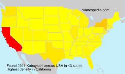 Surname Kobayashi in USA