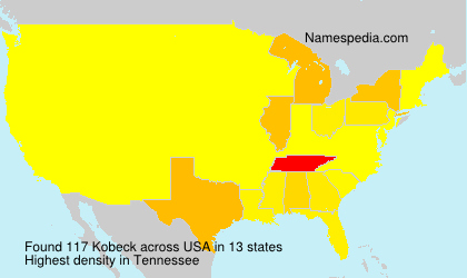 Familiennamen Kobeck - USA