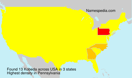 Surname Kobeda in USA
