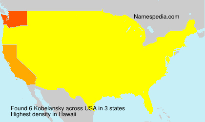 Surname Kobelansky in USA