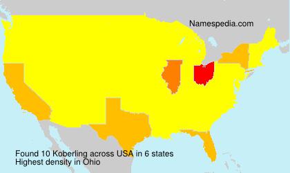 Surname Koberling in USA
