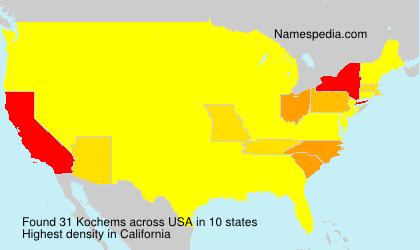 Surname Kochems in USA