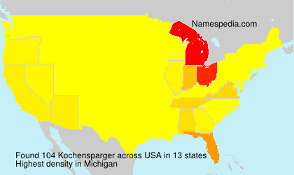 Surname Kochensparger in USA