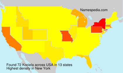 Surname Kociela in USA